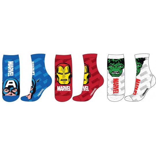 Dětské ponožky Avengers mix.3ks 23-34