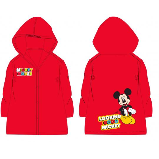 Dětská pláštěnka Mickey červená 98/128