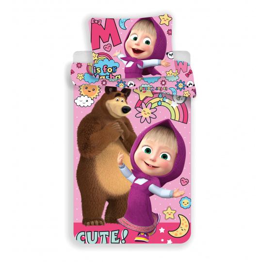 Dětské povlečení Máša a Medvěd Rainbow 140x200 70x90