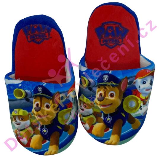 Dětské pantofle Tlapková patrola tmavé