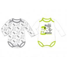 Chlapecký kojenecký body set Krokodýl a Méďa 68-86