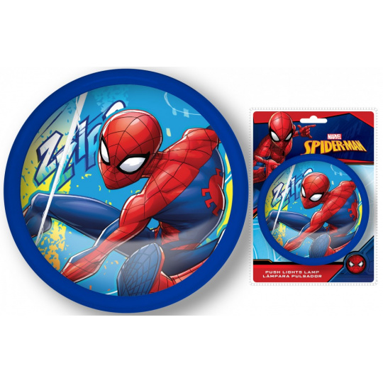 Kulaté světlo Spiderman na zmáčknutí