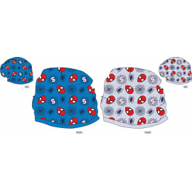 Jarní čepice Spiderman šedá,modrá 52-54