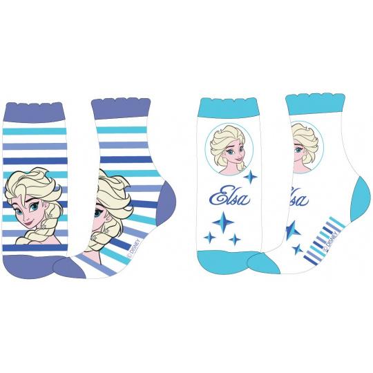 Dětské ponožky Ledové Kralovství proužek 2ks 23-34