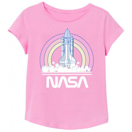 Tričko Nasa růžové 116-146