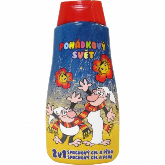 Dětský sprchový gel a pěna 2v1 Křemílek a Vochomůrka