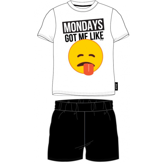 Pánské pyžamo Emoji bílé  M-XXL