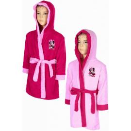Bavlněný dívčí župan Minnie růžový