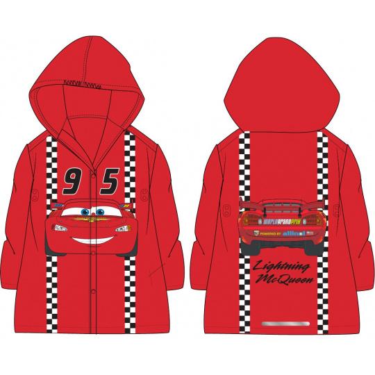 Dětská pláštěnka Auta červená 98-128