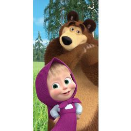 Bavlněná osuška Máša a Medvěd