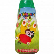 Dětský sprchový gel + šampon 2v1 Maková panenka a motýl Emanuel
