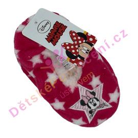 Hřejivé papučky Minnie růžové