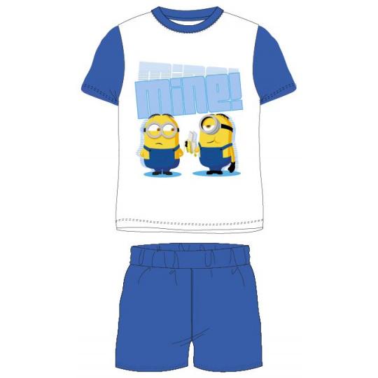 Dětské pyžamo Mimoni bílé s modrou 98-128