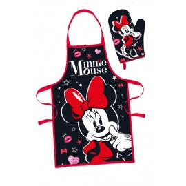 Dámský kuchařský set Minnie - černý