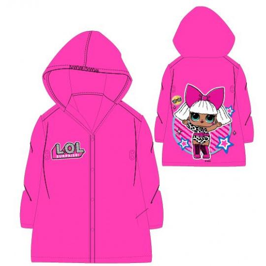 Dětská dívčí pláštěnka L.O.L. růžová 98-128